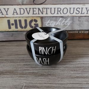 Rae Dunn Black Mini Bowls PINCH DASH NEW